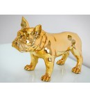 Figurka,figura,buldog złota