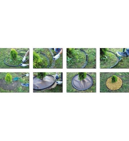 Obrzeża ogrodowe Obrzeże trawnikowe palisada 10 m + KOTWY