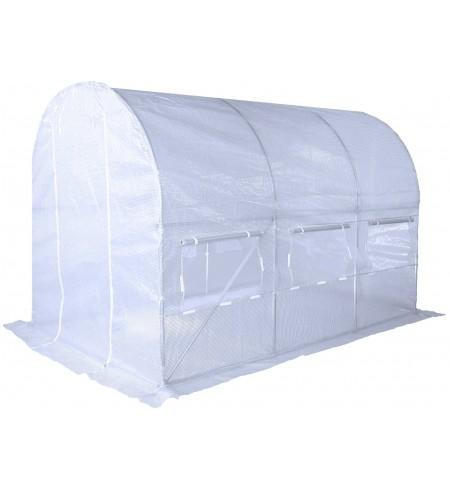 Tunel foliowy 200x350 cm biały