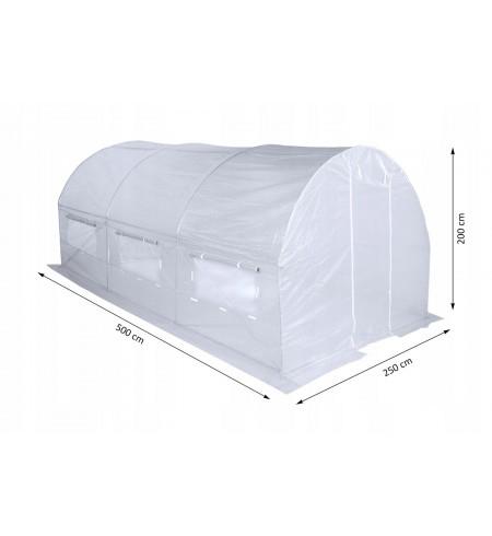 Tunel foliowy 200x500 cm biały