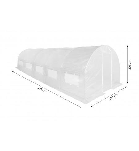 Tunel ogrodowy biały 300x600