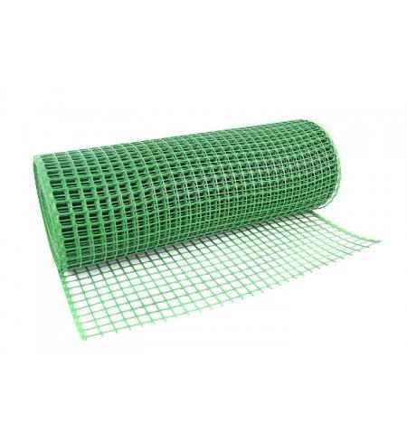 Siatka rabatowa wzmacniana kontenerowa 1,2x25m zielona (oczko 30x30mm)